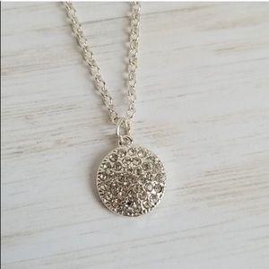 Stella & Dot Starry Night Necklace Pavé Silver